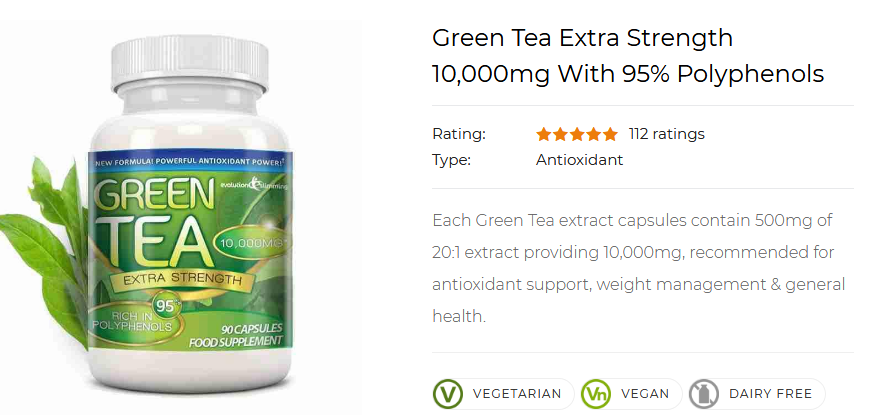 112 users have reviewed this great green tea fat burner